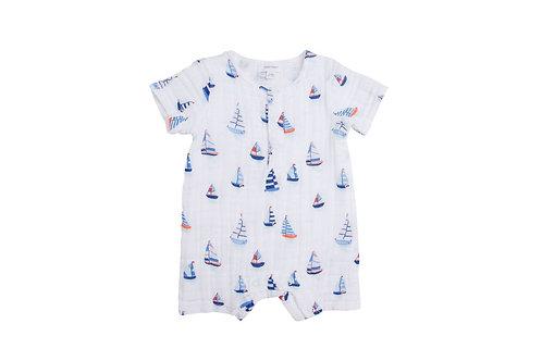 Angel Dear Nautical Boats Henley Shortall Blue