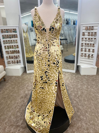 Sherri Hill 54149 Gold