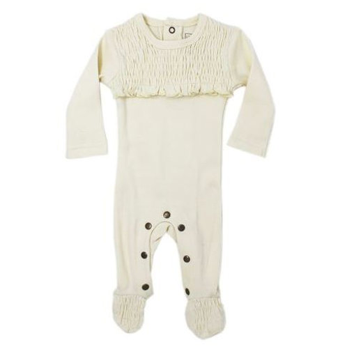 L'ovedbaby Smocked Overall Beige