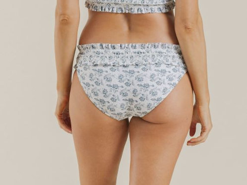 Rylee & Cru Roses Smocked Bikini Bottom