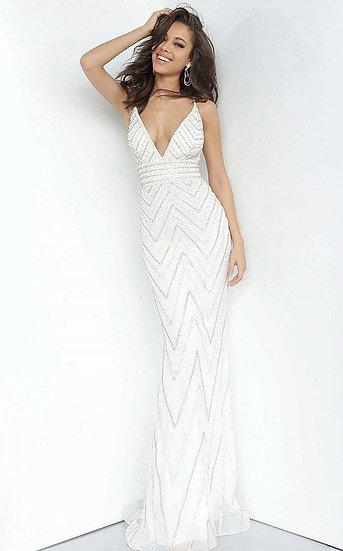 Jovani 2267A Off White/Gold