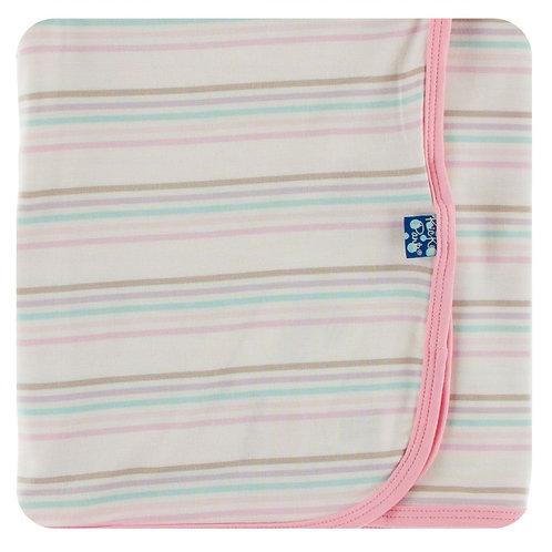 Kickee Pants Print Swaddling Blanket Cupcake Stripe