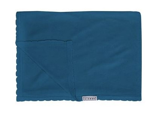 Kickee Pants Solid Knitted Throw Blanket Seaport