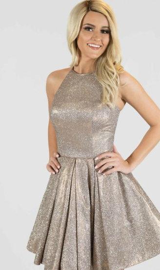 Sherri Hill 52970 Nude/Silver