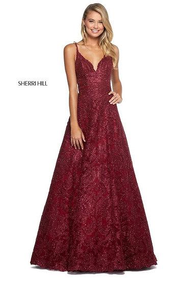 Sherri Hill 53250 Burgundy