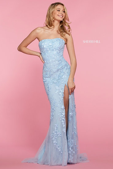 Sherri Hill 53345 Light Blue