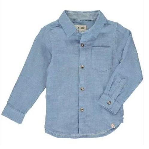 Me & Henry Blue Gauze Shirt