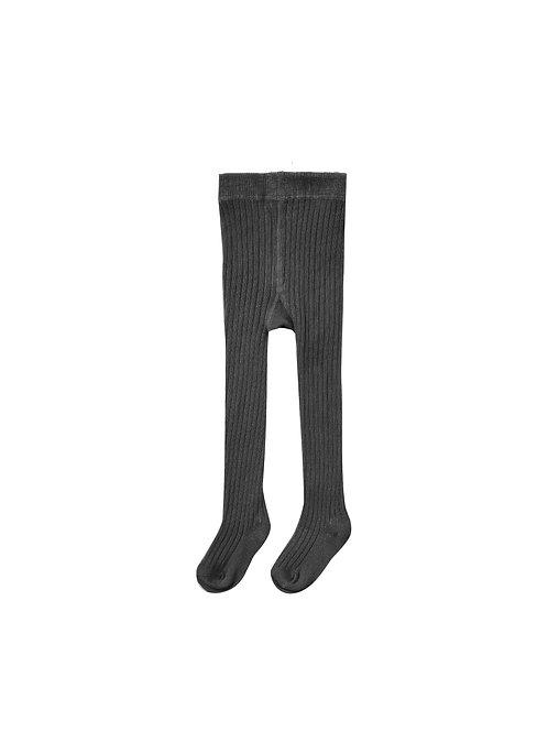 Rylee + Cru Rib Knit Tights Vintage Black