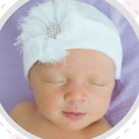 ilybean White Hat White Fairy Flower