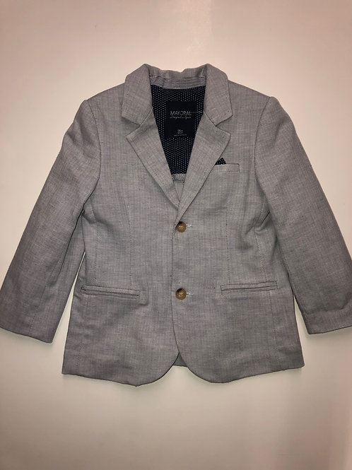 Mayoral Linen Jacket Gray