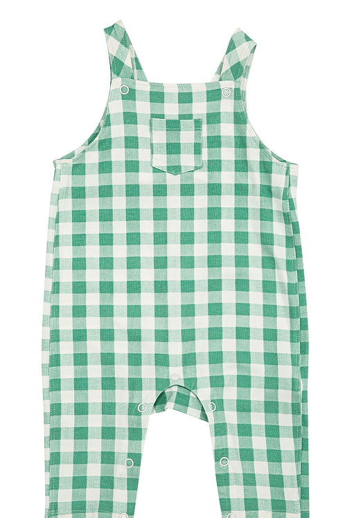 Angel Dear Green Gingham Pocket Coverall