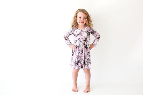 Posh Peanut Nikki Long Sleeve Basic Twirl Dress