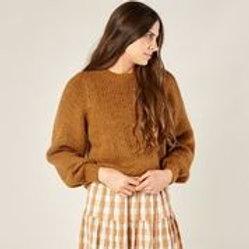 Rylee + Cru Balloon Sweater Cinnamon