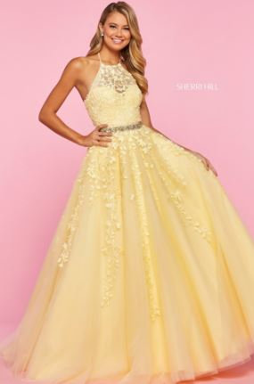 Sherri Hill 53371 Yellow