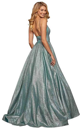 Sherri Hill 52960 Aqua/Silver