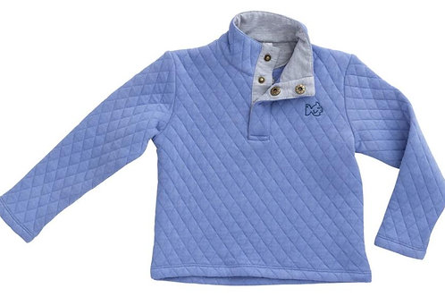 Prodoh Quilted Quarter Snap Pullover Coastline Blue