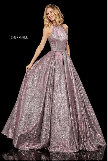Sherri Hill 52964 Fuchsia/Silver