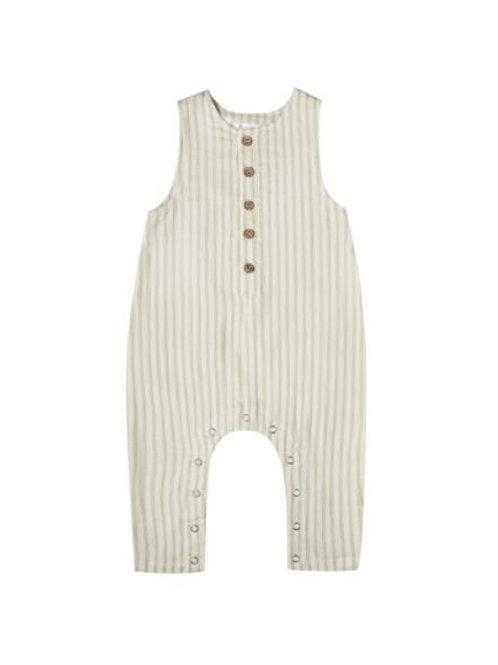 Rylee & Cru Striped Button Jumpsuit