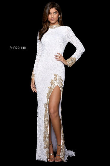 Sherri Hill 53007 White/Gold