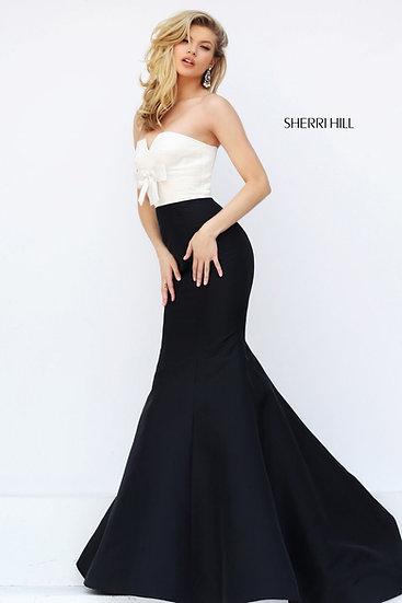 Sherri Hill 50601 Ivory/Black