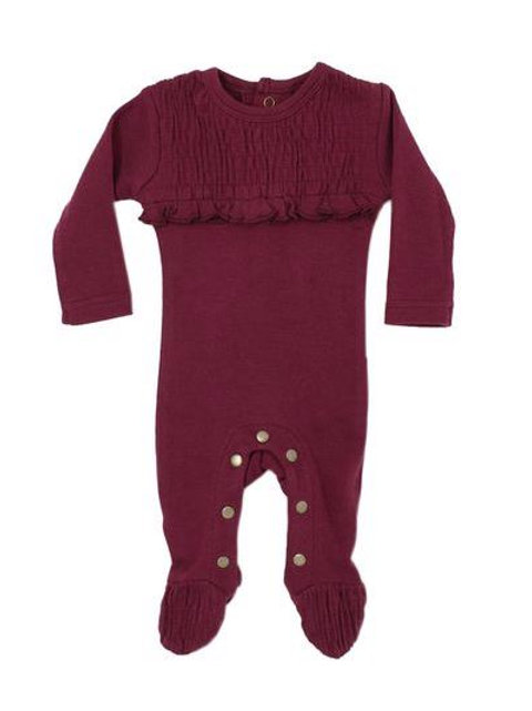 L'ovedbaby Smocked Overall Cranberry