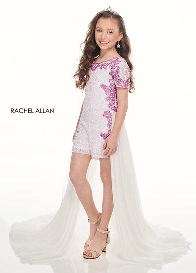 Rachel Allan 10000 White/Iridescent Pink