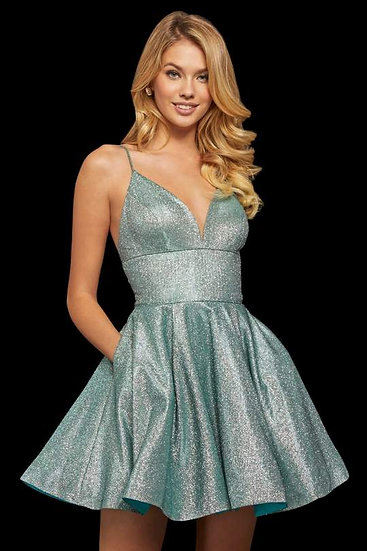 Sherri Hill 52955 Aqua/Silver