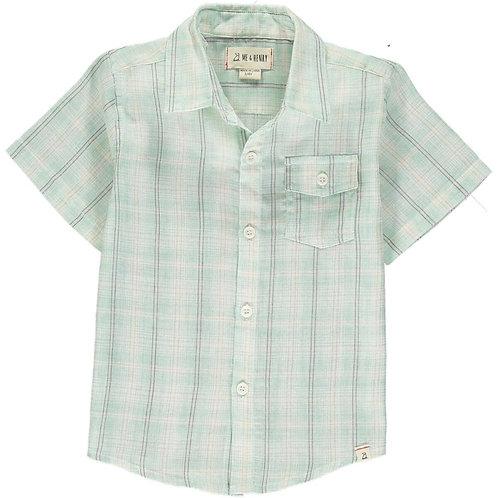Me & Henry Newport Short Sleeve Shirt Mint/White Plaid