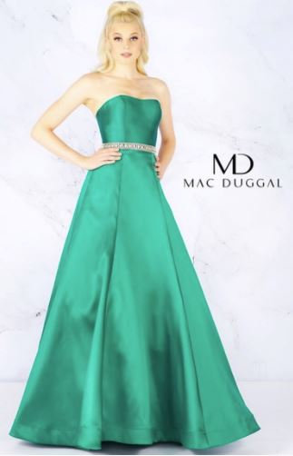 Mac Duggal 67687 Emerald Green