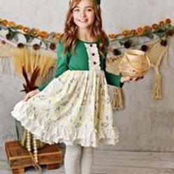 Serendipity Pine Ruffle Pocket Dress w/ Legging