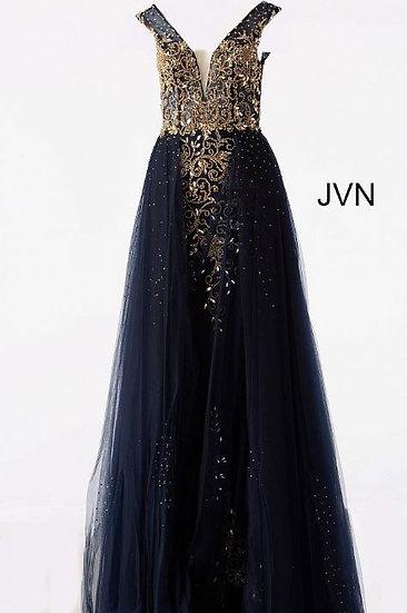 Jovani JVN46081A Navy/Nude