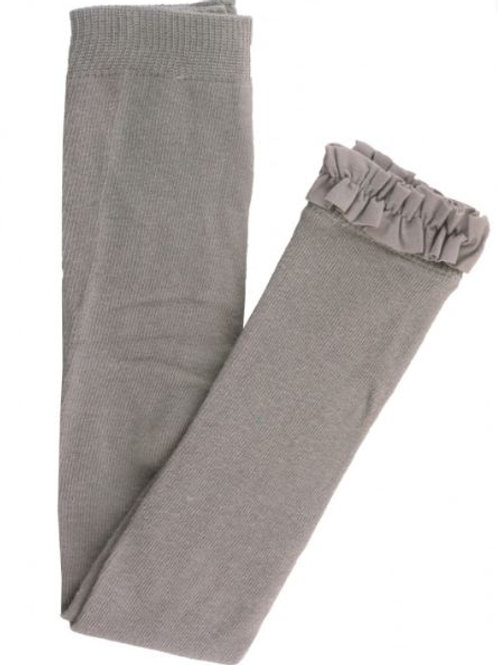 Ruffle Butts Gray Footless Tights