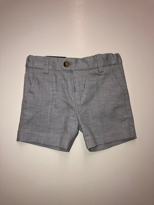 Mayoral Linen Shorts Gray