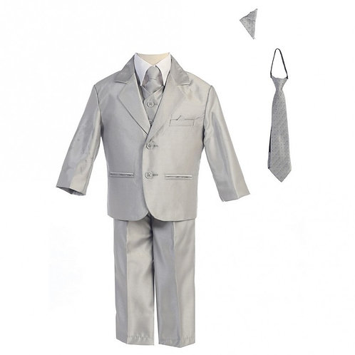 Lito Childrens Wear Boys 5 Piece Suit Silver