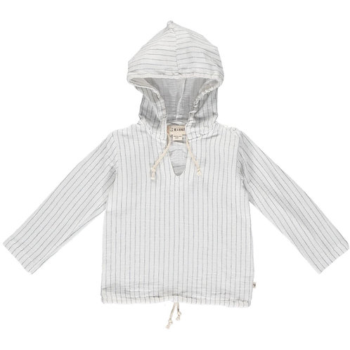 Me & Henry St. Ives Gauze Hooded Top White