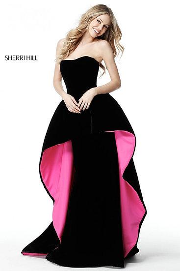 Sherri Hill 51418 Black/Fuchsia