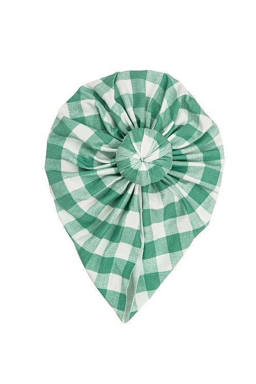 Angel Dear Green Gingham Norma Headwrap