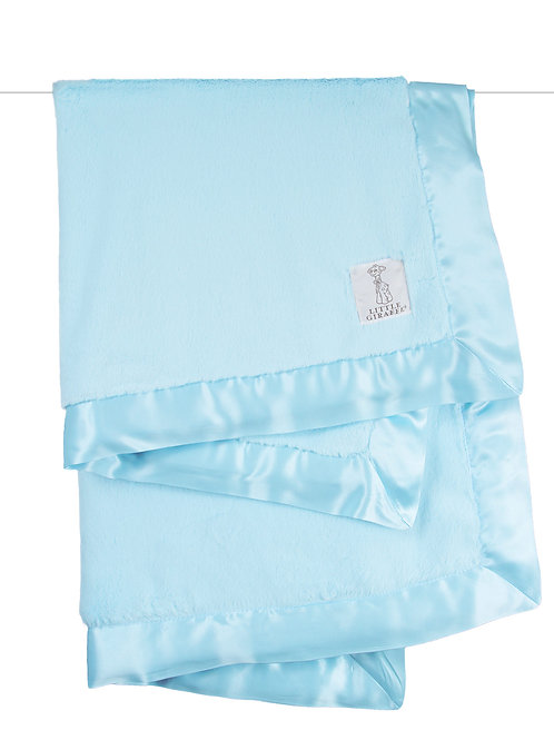 Little Giraffe Luxe Blanket Aqua