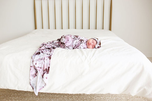 Posh Peanut Nikki Infant Swaddle and Headwrap *SET*