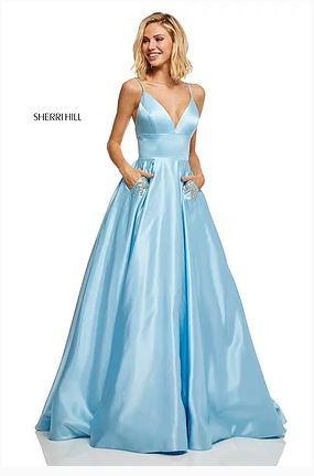 Sherri Hill 52629 Light Blue