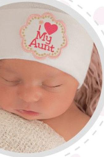 ilybean Hat I Love My Aunt White