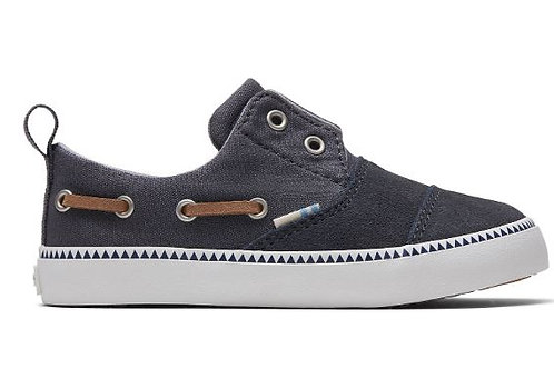 Toms Forged Iron Grey Canvas Suede Pasadena Slip-Ons