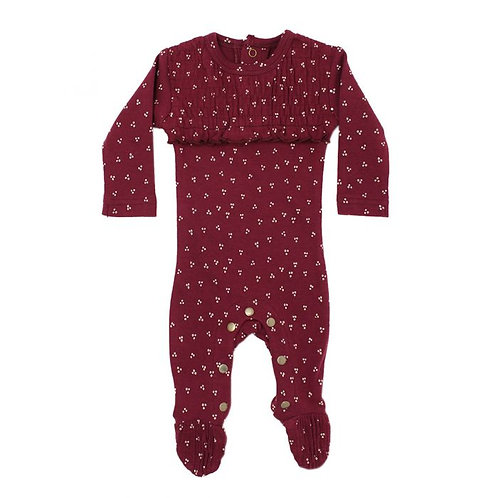 L'ovedbaby Smocked Overall Cranberry Dots