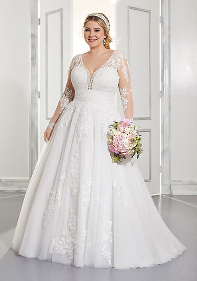 Mori Lee 3304 Ivory/Honey