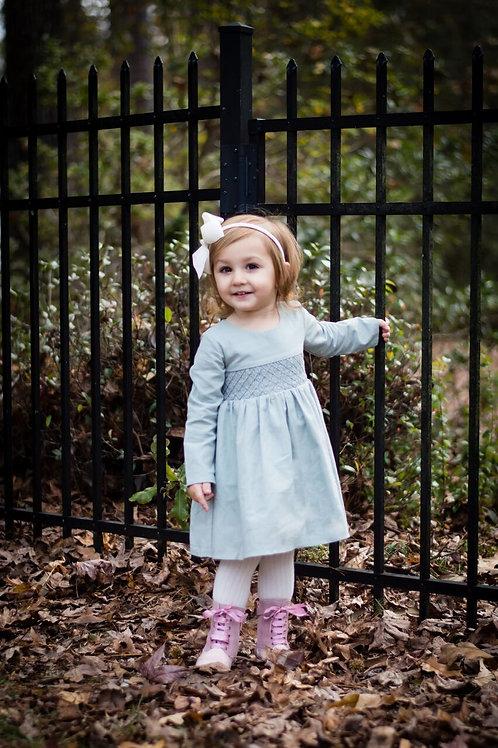 Evie's Closet Smocked Dress Sky Blue F18133