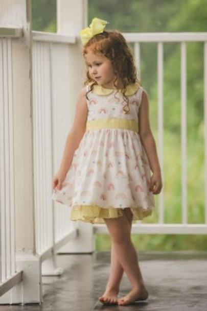 Evies Closet Watercolor Rainbow Dress