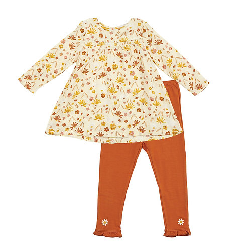 Angel Dear Daisy Baby Smocked Top and Legging