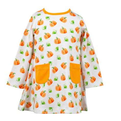 The Proper Peony Parker Pumpkin A-line Dress