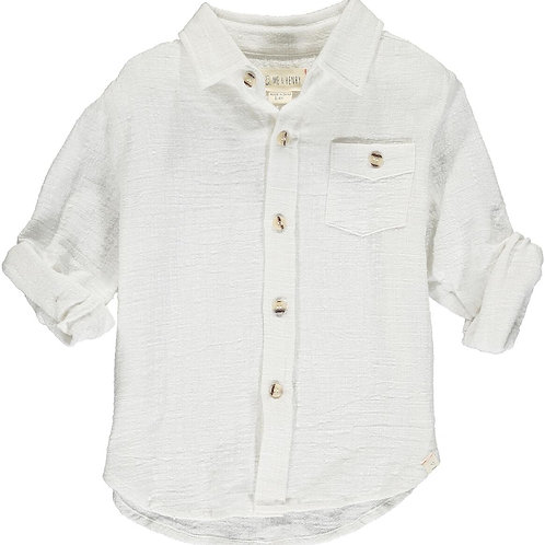 Me & Henry Merchant Long Sleeve Shirt White