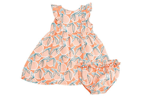 Angel Dear Peachy Dress Cantaloupe